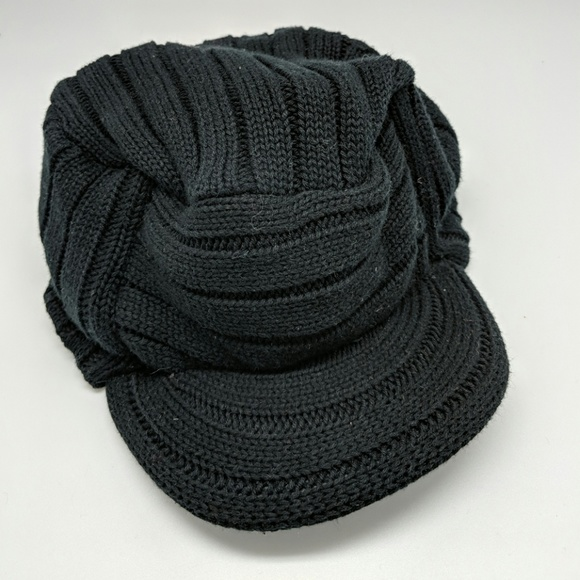38% off GAP Accessories Kids Black Knit Hat With Brim  a68ce81a5e5